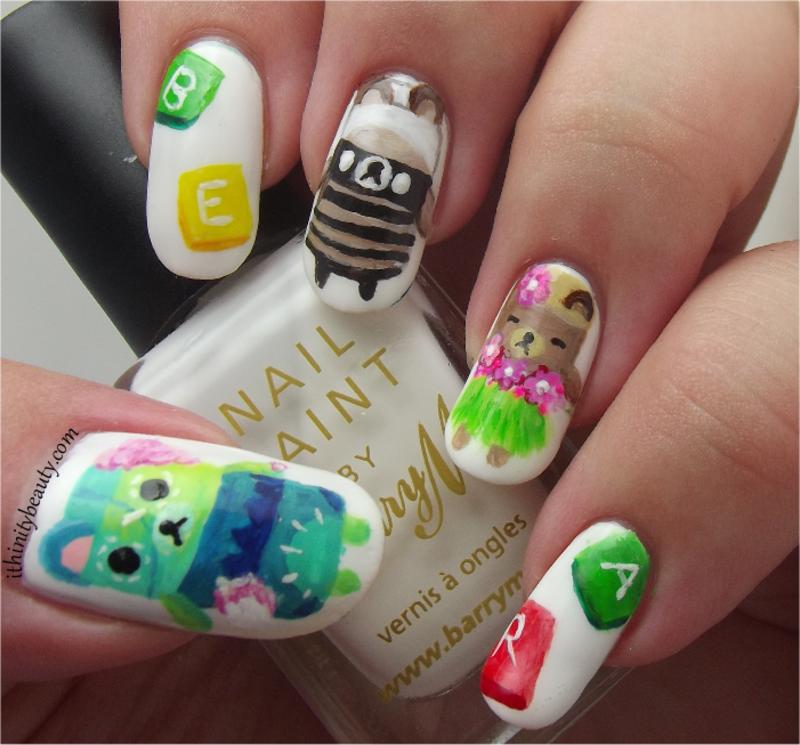AlphaBear Nail Art!  nail art by Ithfifi Williams
