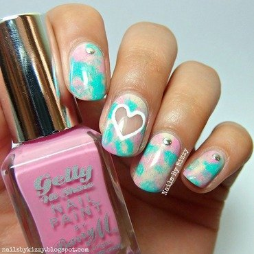Negative Space Pastel Nails nail art by Kizzy