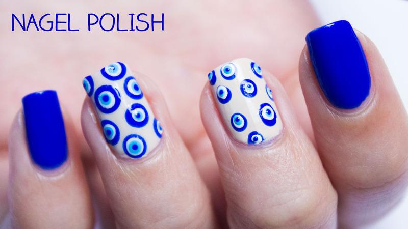 Evil Eye, Greek Inspired Nails nail art by Nagel Polish