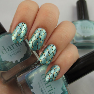 I caught you in my net nail art by Daria B.