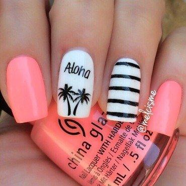 Aloha nail art by Melissa