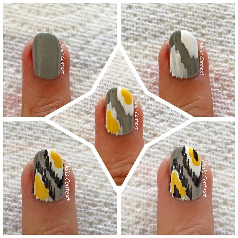 Tutorial: How to do Ikat Print Nails  nail art by NailsContext