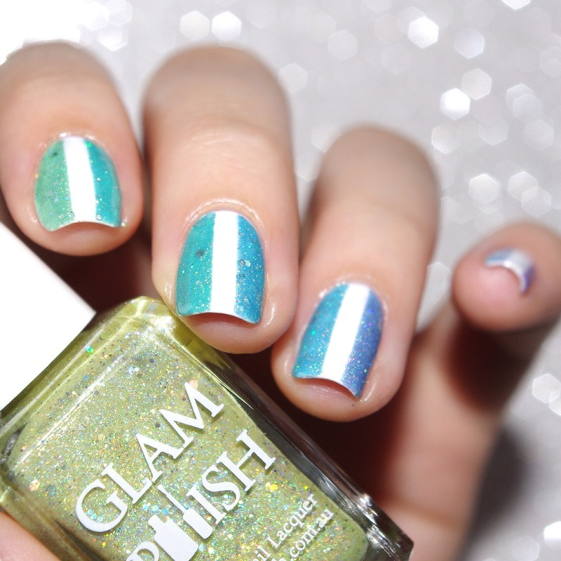 GlamPolish Fever ! nail art by Bulleuw