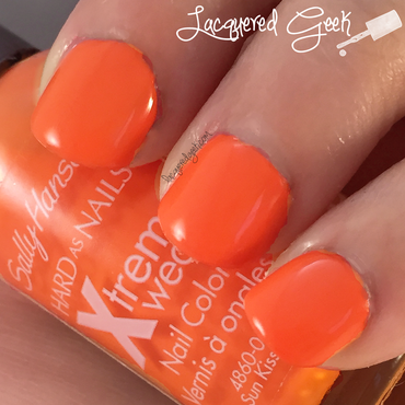 Sally Hansen Sun Kissed Swatch by Kim (Lacquered Geek)