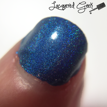 Colors By Llarowe That Bloo is Mine! Swatch by Kim (Lacquered Geek)