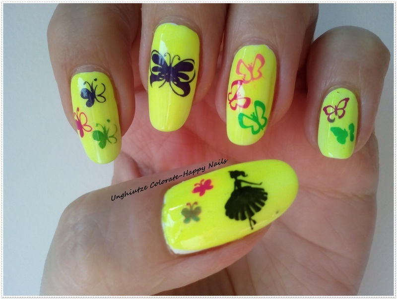 Butterflies nail art by Oana  Alexandru