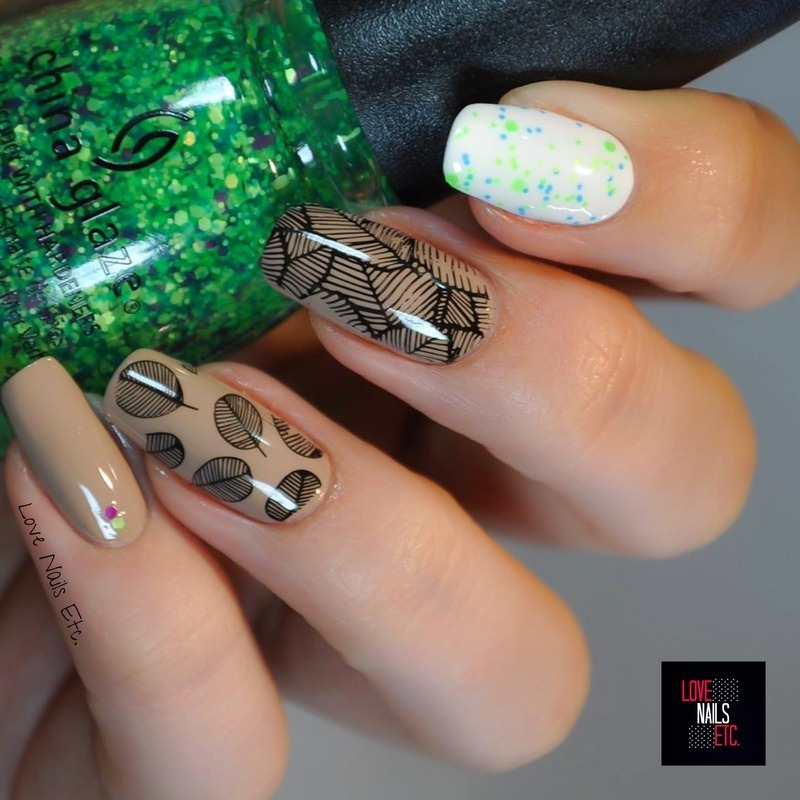 - Leaves & Nude- <3 nail art by Love Nails Etc