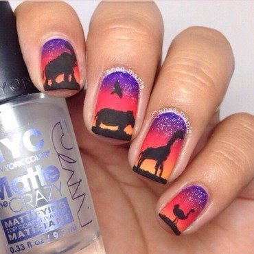 Safari Sunset nail art by anas_manis