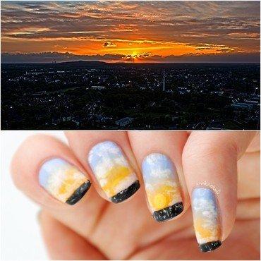 Summer Sunset Nails nail art by Ann-Kristin