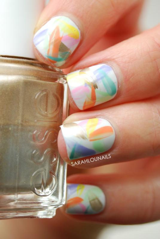 Pastel Brush Stroke Nails! nail art by Sarah S
