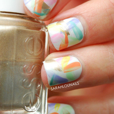 Pastel Brush Stroke Nails! nail art by Sarah S