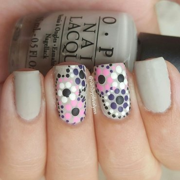 •Flower Pattern Nails• nail art by Olivia D.