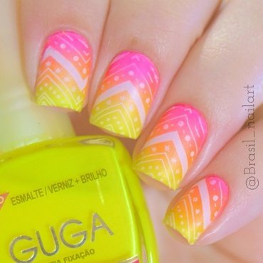 Bright!!!! nail art by Brasil_nailart