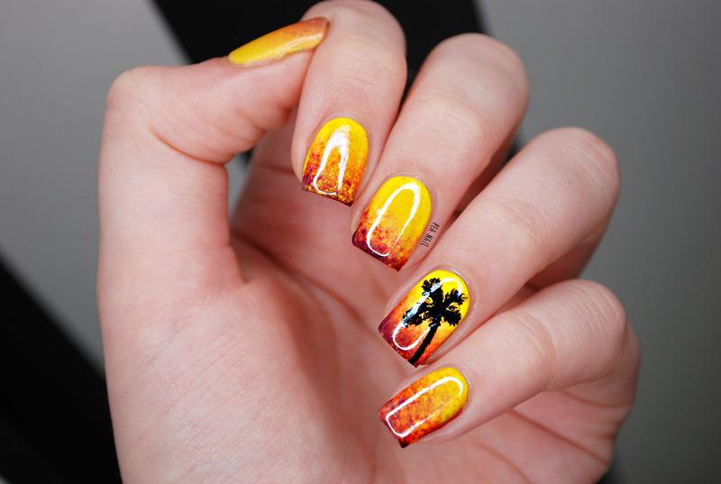 Sunset nail art by Natalie Grech