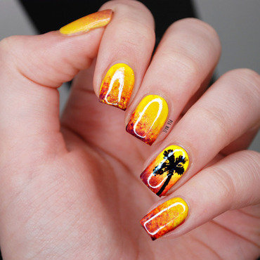 Sunset nail art by Natalie Grech
