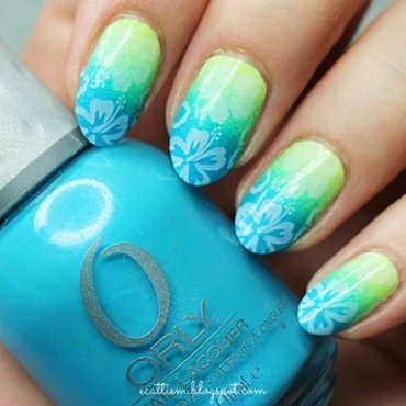 Hola, Hawaii nail art by ecattiem