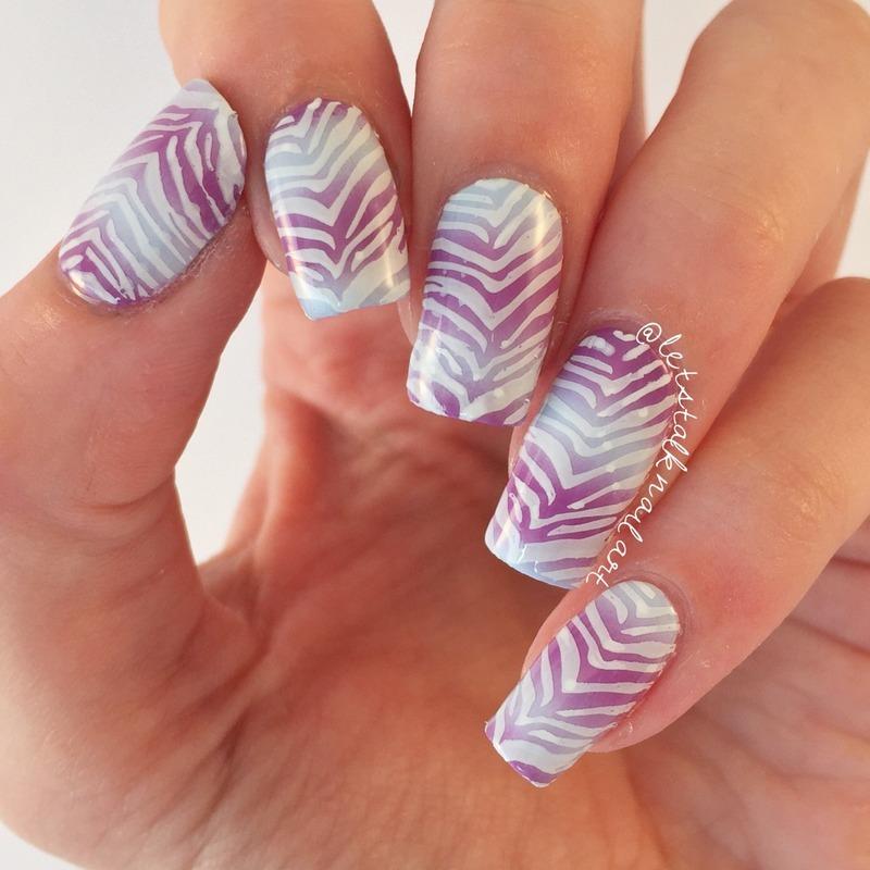 Purple Prints nail art by Lottie