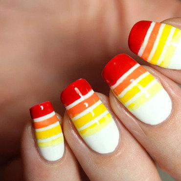 Tuto nailart striing tape manucure ete couleurs vives degrade sans eponge kiko hema 3 thumb370f