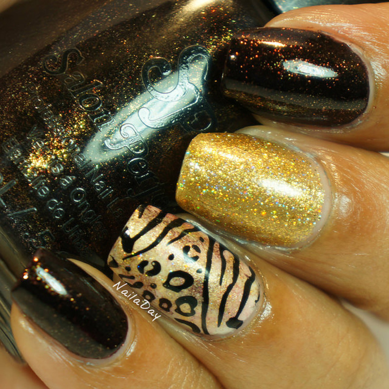 Animal print skittlette nail art by Nailaday