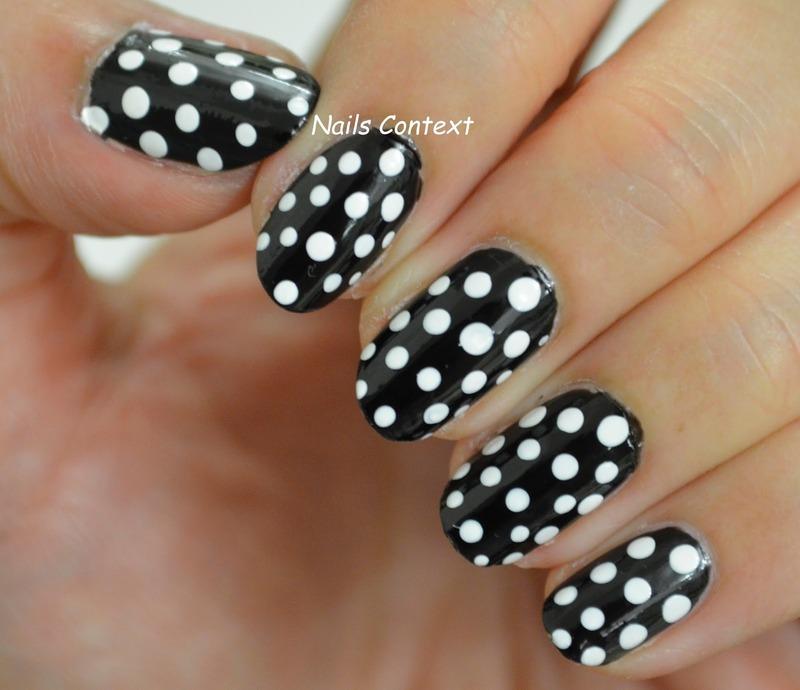 Polka Dots  nail art by NailsContext