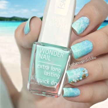 Lagoon Nails nail art by katharinapeskelidou