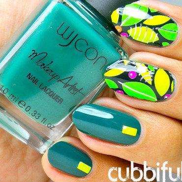 Tropical Nails nail art by Cubbiful
