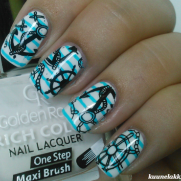 Sailor <3 nail art by Trii