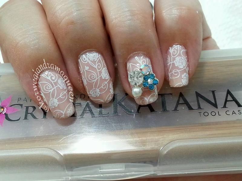 Bridal Nails nail art by Silje  Bannister