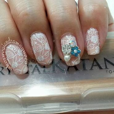 Bridal Nails nail art by Silje  Bannister