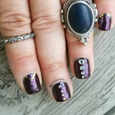 Witchy nails nail art by Kristen Lovett
