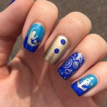 Seaworld nail art by Marissa Jansen
