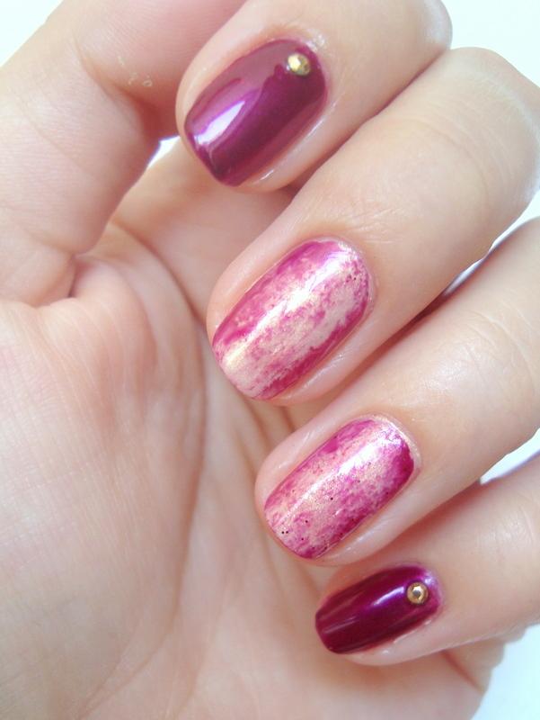 Foil nail art :) nail art by Kasia