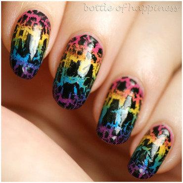 Rainbow nail art by Kasia (hatsu hinoiri)
