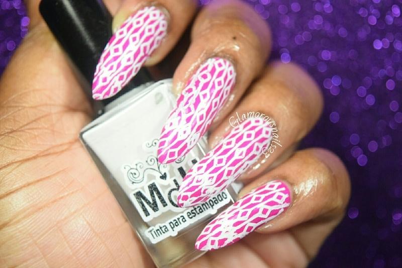 Diamonds & Lines nail art by glamorousnails23