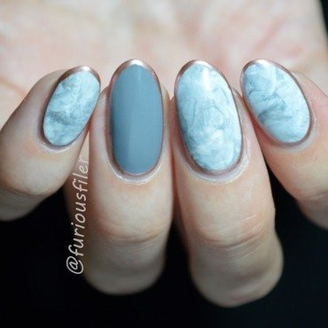 Stamper marble nail art by Furious Filer