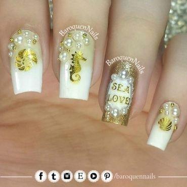 Sea Love II nail art by BaroquenNails
