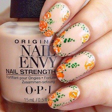 Romantic Rose nail art by Beauty Intact