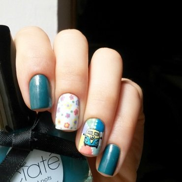 hippie hip nail art by marina