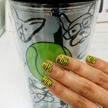#mynailsandmydrink Sugarspun Nail Art nail art by Monica