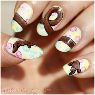 Dachshund nail art by Kasia (hatsu hinoiri)