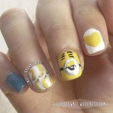 Minion Nails ft Stuart (my fave) nail art by Jessi Brownie (Jessi)