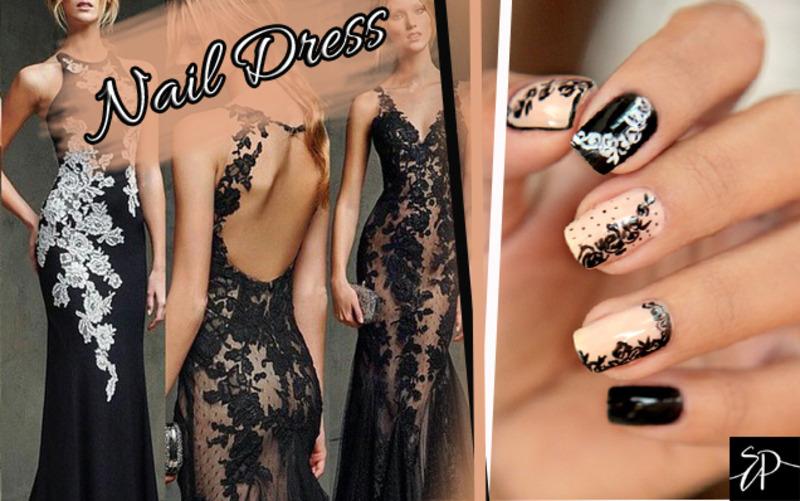 Nail Dress nail art by Siça Ramos