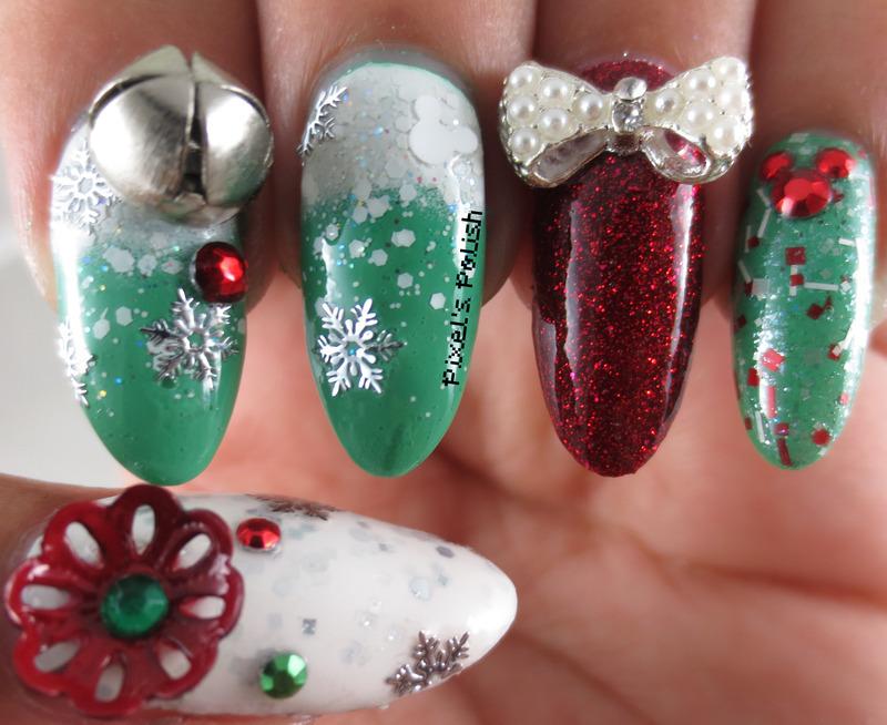 Disney Christmas In July nail art by Pixel's Polish