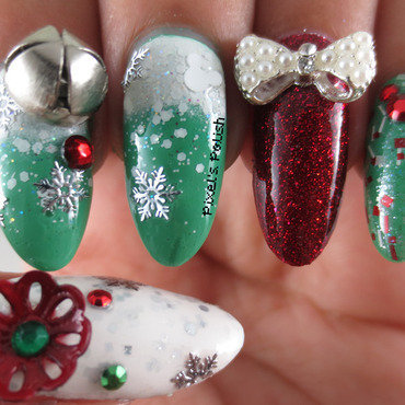 Disney Christmas In July nail art by Pixel's Polish