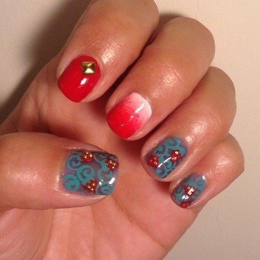 Strawberry Fields Forever (light version) nail art by Idreaminpolish