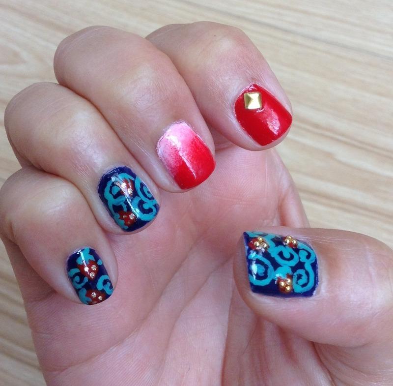 Strawberry Fields Forever (dark version) nail art by Idreaminpolish