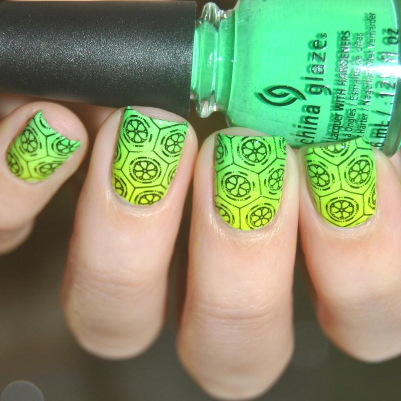 Summer Lemon nail art by Lackopfer