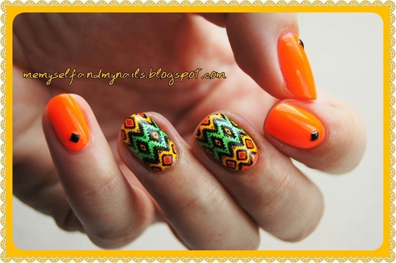 Aztec nail art by ELIZA OK-W