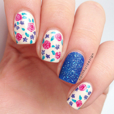 Lovely Flowers nail art by NailThatDesign