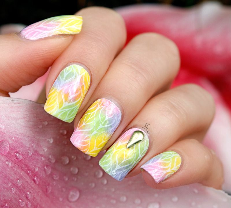 After the rain nail art by Yue